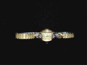 Benrus 14K Gold And Diamond Watch