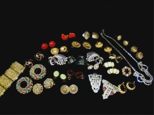 65: Assorted Signed and Mixed Earrings, Weiss etc.