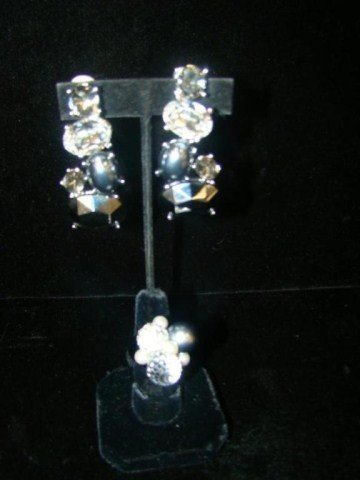 67: Kenneth Lane Ring and Earrings