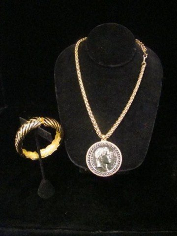 68: Lot of 2 Kenneth Lane Coin Necklace