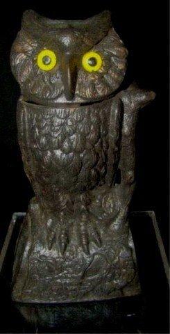 7: Owl Turning Head Mechanical Bank