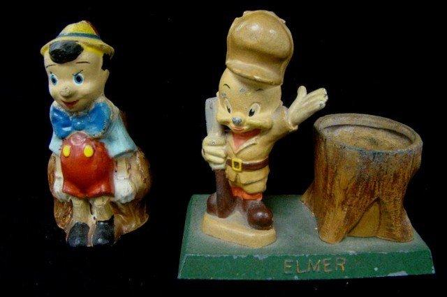 11: Elmer Fudd Holder and Pinocchio Bank