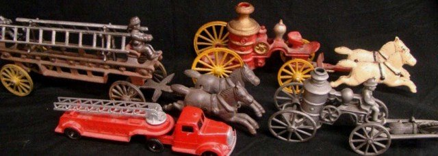 15: Cast Iron Fire Carriages and Fire Truck