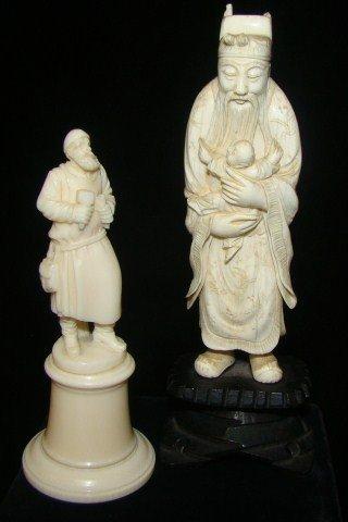 10: Lot of 2 Ivory Figurines