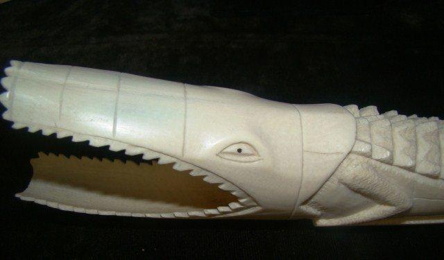 14: Ivory Carved Alligator