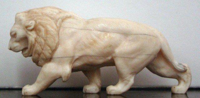 4A: Ivory Lion Figure