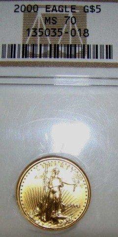 2: 2000 American Gold Eagle 1/10 oz