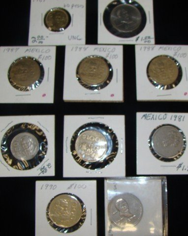 7: Ten  Mexican Coins