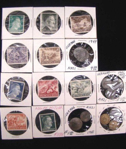 9: 4 Nazi Coins and 10 Nazi Star Stamps