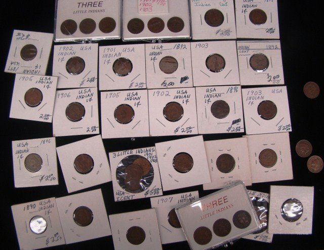 10: Lot of Indian Cents