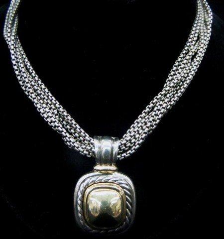 20: 14k Gold / .925 David Yurman Necklace