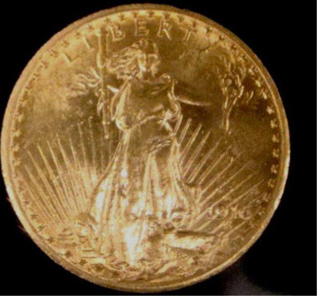 79: 1916-S $20 Gold Saint Gaudens