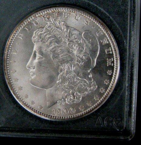 98: 1878-S and 1900-P Morgan Silver Dollar