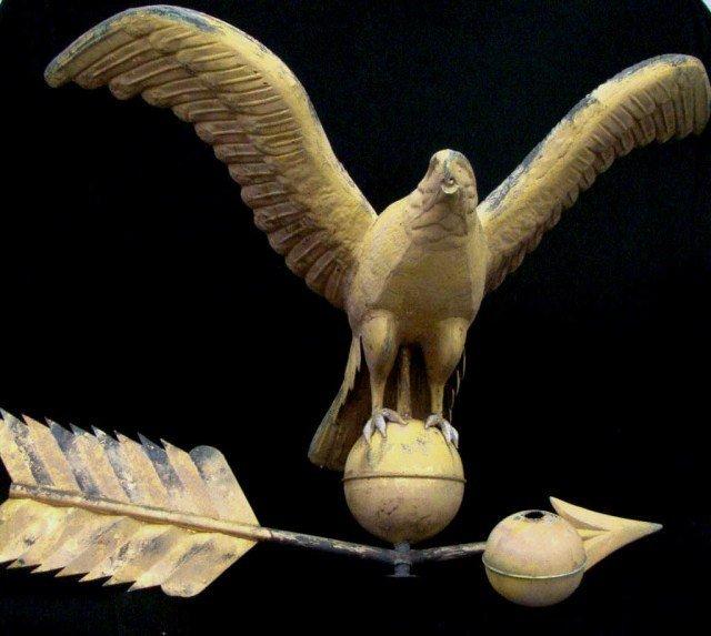 111: Early Antique Eagle Weathervane