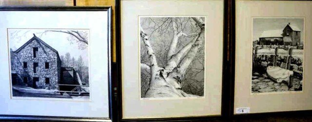 5: Lot of 3 E. Rising Etchings
