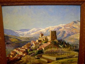 B.T. Newman, Signed Oil On Canvas- Italy