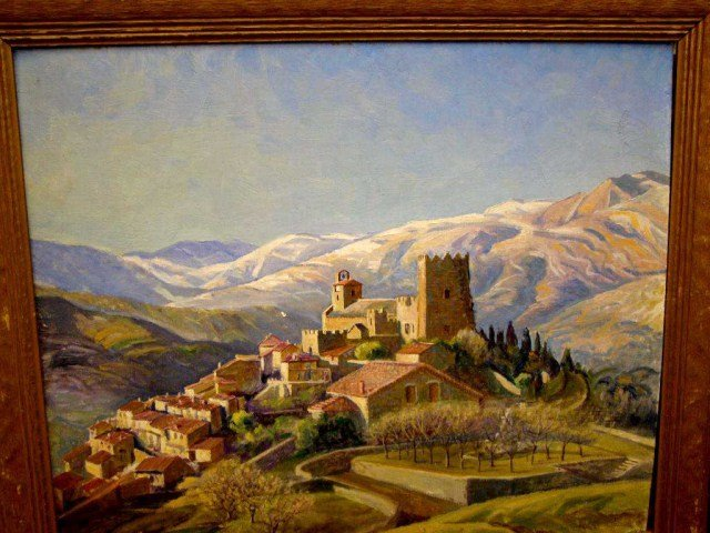 26: B.T. Newman, Signed Oil on Canvas- Italy