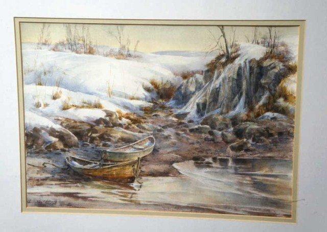 27: Ellen A. Nelson,  Watercolor- Coastal View