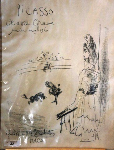 32: Picasso, Oeuvre Grave, 1960