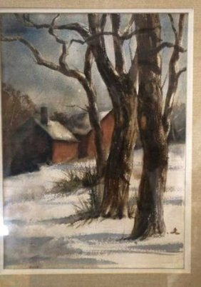 "Evelyn Andersen, Watercolor ""January"""