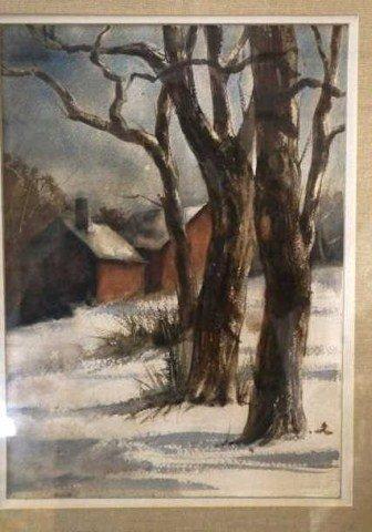 "35: Evelyn Andersen, Watercolor ""January"""