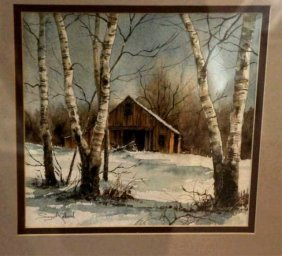 Suzy Aalund, Watercolor, Winter View
