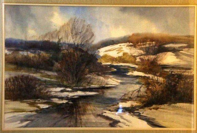 39: Natalie Nordstrand, Watercolor, Winter View