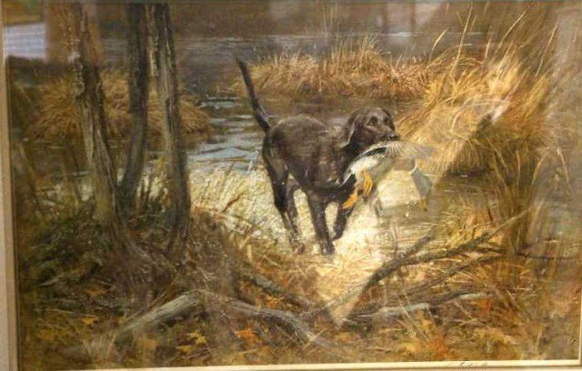 40: Allett?, Lithograph, Hunting Scene,