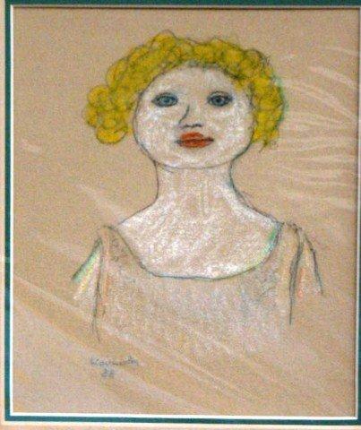"42: Jon Kodwyck,  Pencil and Crayon ""Head""  1988"