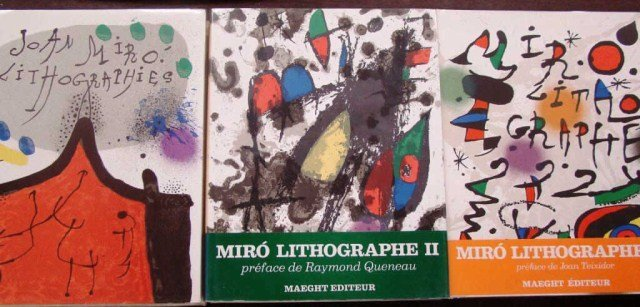 47: Joan Miro Original  Lithographe Volume I II and II