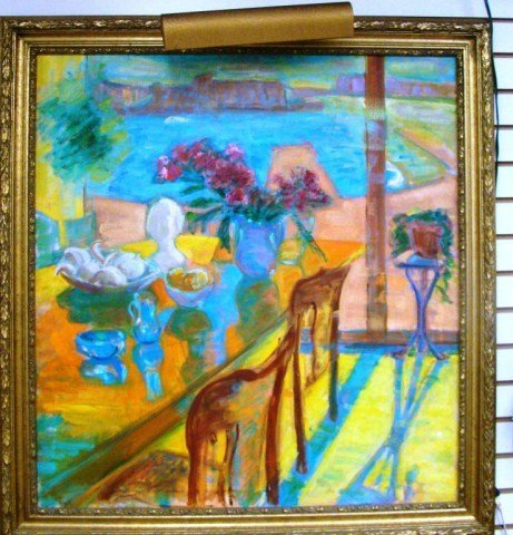 41A: Oil on Canvas- Table by The Window