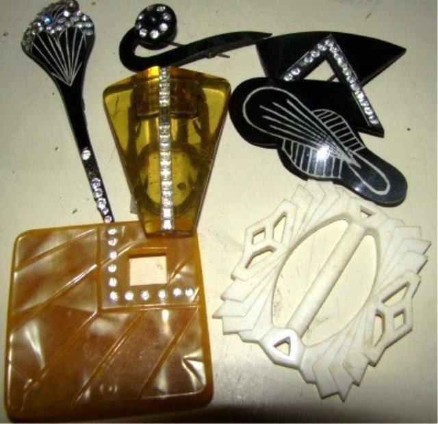 16: Art Deco Pin Lot