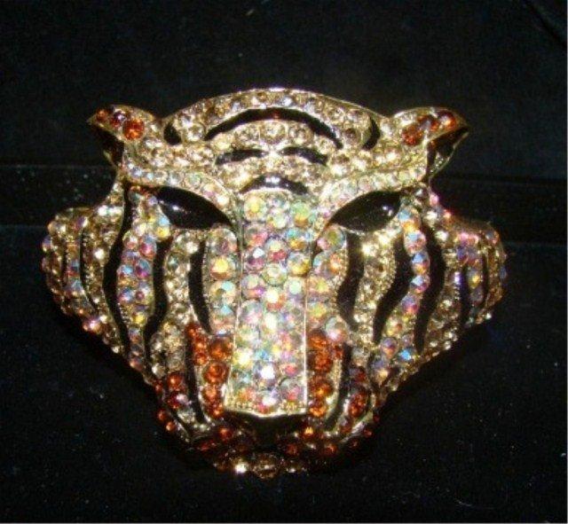 19: Multi-Color Stone Lion Cuff Bracelet