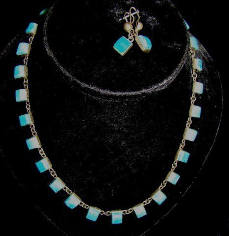 21: Vintage Sterling and Turquoise Necklace