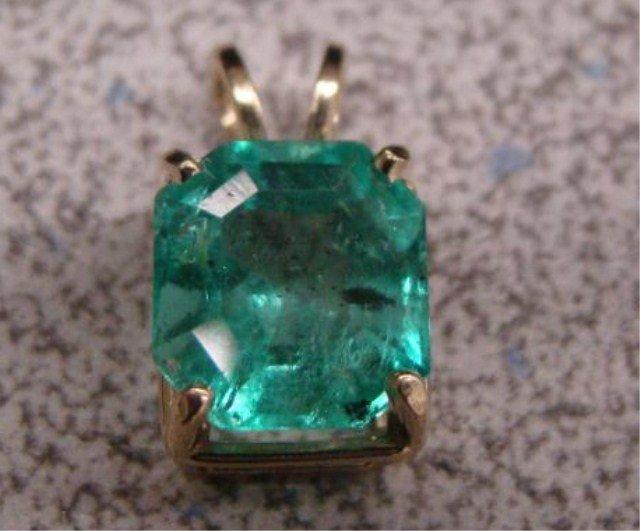 13A: 14k and Emerald Pendant-4 Carat