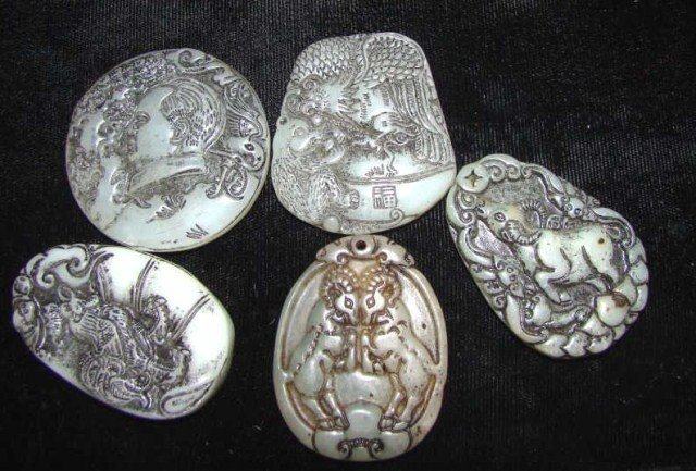20: Lot of 5 Carved Amulets