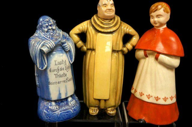 2: Lot of 3 Figural Decanters