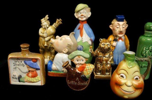 3: Lot of 9 Figural Bottles/Schafer Vater