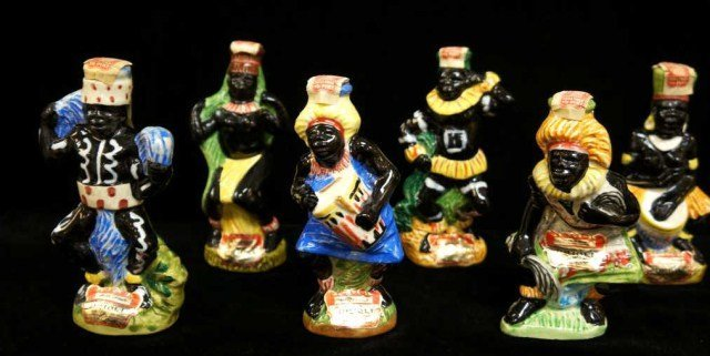 14: Lot of 6 African American Tribal Musicians, Drioli