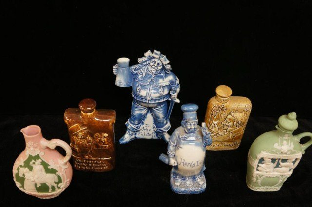 16: Lot of 6 Bottles and Decanters/Schafer Vater