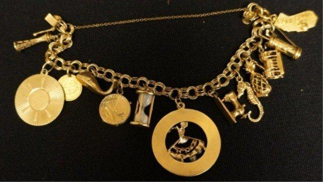 2: 14k Gold Charm Bracelet
