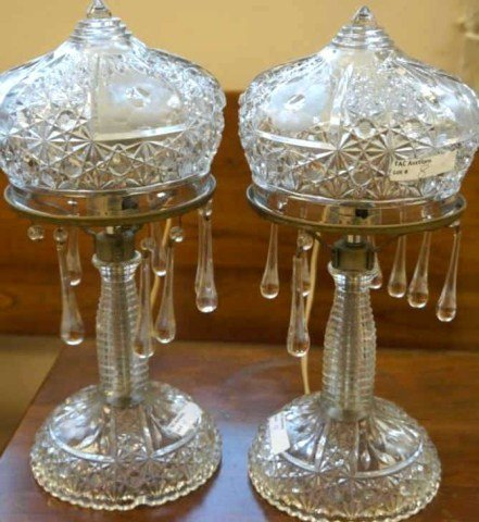 3: Pair of Crystal Boudoir Lamps