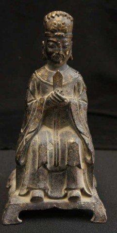 10: Asian Gilt Bronze Figure