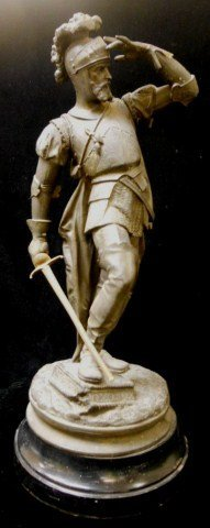 Cast Metal Warrior Statue