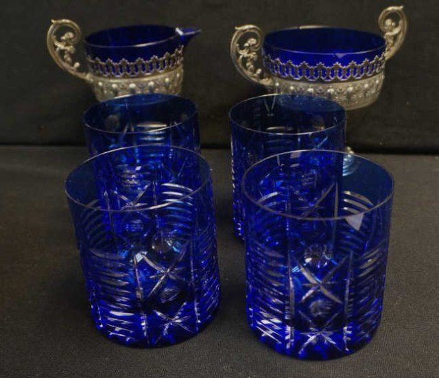 4 Piece Cobalt Blue Lot