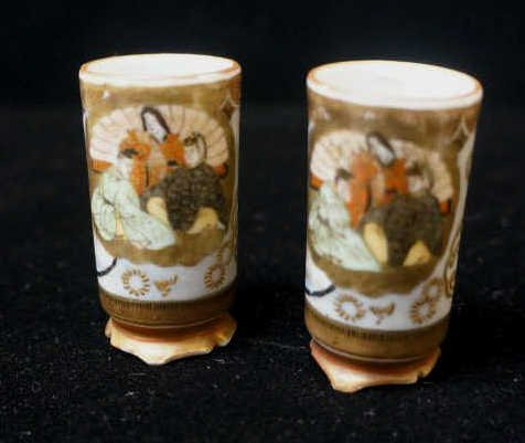 Pair of Miniature Satsuma Vases