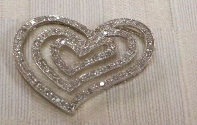 14K Gold and Diamond Heart Pendant