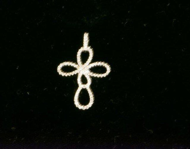 14K Gold and Diamond Cross Pendant