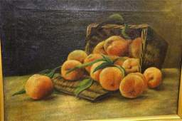 Oil on Canvas Fruit Still Life