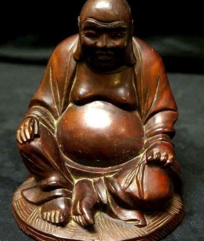 Carved Wooden Buddha Figure